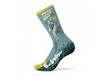CALCETINES FREEWAVES DELFIN AZUL 2021